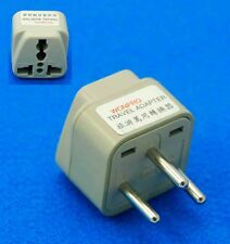 UK USA AUS Euro to Israel Round Pin Travel Adaptor AC Power Plug Universal Plug