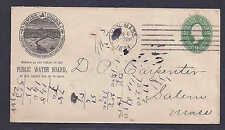 1894 USED LYNN MA SETTLED 1829, FROM PUBLIC WATER BOARD