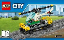 LEGO Train Carriage Helicopter Wagon Railway  From Set 60098 NEW