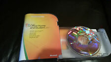 Used Microsoft MS Office 2007 Home and Student  Full Retail Box