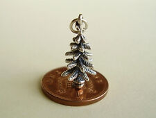 BEAUTIFUL ' CHRISTMAS TREE '  STERLING SILVER 3D CHARM CHARMS