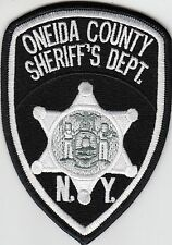 ONEIDA COUNTY SHERIFF'S DEPARTMENT NEW YORK POLICE PATCH NY (SILVER)
