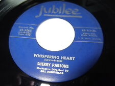 Sherry Parsons: Whispering Heart / How Can I Keep My Mind On My Feet 45