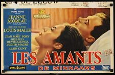 LOVERS LES AMANTS Belgian movie poster JEANNE MOREAU LOUIS MALLE vintage