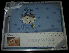 Pitter Patter PICCOLO PRINCIPE & FROG LUSSO Wrap 75 cm x 75 cm Regalo Box pitterpatter