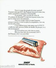 PUBLICITE ADVERTISING 116  1978  SNCF   le train