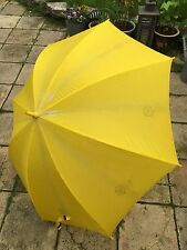 VINTAGE 1960-70'S BRIGHT YELLOW UMBRELLA WITH DICE PRINTS - FUNKY & ORIGINAL CON