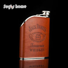 stainless steel hip flask 6oz jack daniels whiskey vodka rum alcohol hip flask