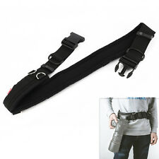 Camera Padded Waist Belt Lens Bag Pouch Holder Strap for Canon Nikon Pentax DSLR