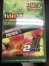 FULL BOX of 25 Packs (2 per pack) JUICY HEMP WRAPS - Mango Papaya Flavored