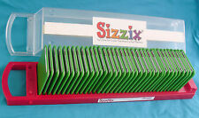 Sizzix Sizzlits Alphabet PLAYGROUND font, Complete 35pc Die Set, Storage Case