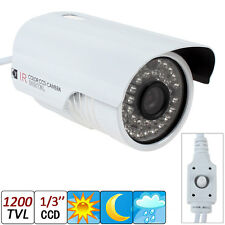 "1200TVL 1/3"" Sony CCD 36 LEDs IR 30M Weatherproof Surveillance CCTV Video Camera"