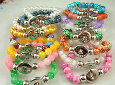 wholesale 2pcs Diy handmade beads Bracelet fit chunk  snap button hot sell dg43n