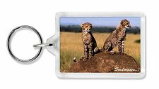 Two Cheetahs 'Soulmates' Photo Keyring Animal Gift, SOUL-80K