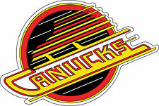 "Vancouver Canucks  Vintage  NHL  sticker, wall decor, bumper  12.5""x 8.4"""