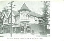 Toledo OH The Gernhardt Building & Corner Drug Store, Central & Detroit Ave 1910