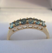 Genuine Natural Alexandrite Gold Band Ring