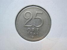 Schweden 25 Öre 1949 silber  (215)