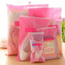 5 Pcs Transparent Travel Storage Bag Waterproof Cosmetic Clothes Organizer Pouch