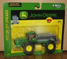 John Deere 4920 Dry Box Spreader Toy 1/64 Ertl #15724 60th ANNIV Die Cast 2005