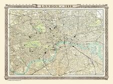 1000 Piece Jigsaw Puzzle Map of London 1898 from the Royal Atlas