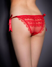 AGENT PROVOCATEUR RED CANCAN TIE SIDE BRIEF SM / MED  8-14  BNWT