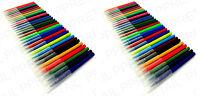 60  ASSORTED COLOUR FINE FIBRE FELT TIP PENS WASHABLE COLOURING PENS 2 PackX 30