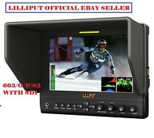 "Lilliput 7"" 663/S2 1280X800 IPS Peaking Focus SDI In&Out+ HDMI IN&OUT +Waveform"