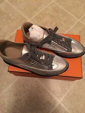 100% Authentic Hermes Silver Sneakers Size 40. Brand New