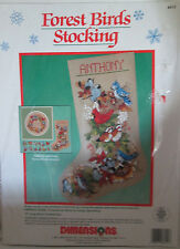 Dimensions FOREST BIRDS STOCKING Christmas Stocking Kit 8412 ~ Sealed