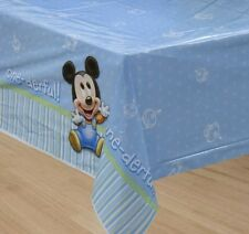 MICKEY MOUSE 1st Birthday ~ (1) Plastic Table Cover ~ Disney Party Decorations