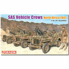 DRAGON 6682 SAS Vehicle Crews North Africa 1942 Figures Model Kit 1:35