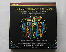 P. SCHREIER/BACH Great choral masterpieces GERMANY 12 CD Box set PHILIPS (1996)