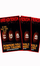 Singing Pumpkins Combo Pack Halloween Projection Effects DVD Vol 1,2 and 3