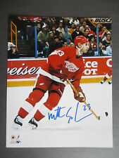 MATHEW SCHNIEDER  AUTOGRAPHED 8x10 COLOR PHOTO DETROIT RED WINGS