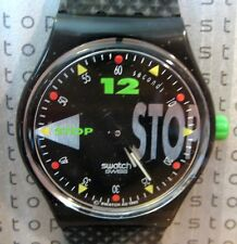LIMITED EDITION - 1992 NIGHT SHIFT SWATCH STOP WATCH - SSB101 - NEW - RARE!