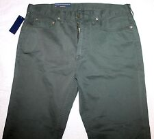Polo Ralph Lauren Big & Tall Mens Dark Green 5-Pocket Jeans Pants NWT 44 B x 32