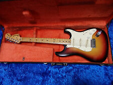 Vintage Fernandes Burny Custom Sunburst Strat JAPAN w/hard case 11-18