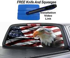 American Flag eagle Rock  Rear Window Graphic Decal Decal  Truck Van