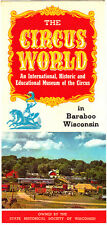 The Circus World Baraboo Wisconsin Vintage Brochure Color Photos