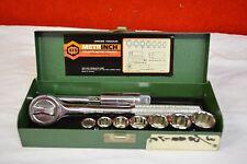 Metrinch Socket Wrench & Socket Set Metric & Inch Chrome Vanadium Used