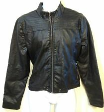 Flax leather womans motorcycle jacket black size XL brand name is New Look