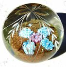 Beautiful Very Large Murano Magnum Paperweight crystal clear glass!