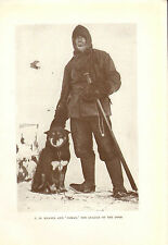 scotts last expedition 1913 plate -  c.h. meares & osman - leader of the dogs