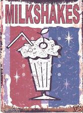 MILKSHAKES METAL SIGN 8x10in pub bar shop cafe games room diner