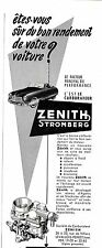 PUBLICITE ADVERTISING 034 1953 ZENITH STROMBERG carburateur voiture