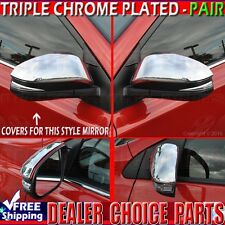 2013 2014 2015 2016 2017 TOYOTA RAV4 Triple Chrome Mirror COVERS Overlays trims