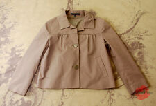 THEORY BEIGE KHAKI COTTON STRETCH CROPPED LIGHT WEIGHT JACKET COAT 2 S SMALL