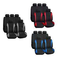 Universal 9pcs/1SET Car Front &Rear Seat Cover Handrest Accessory Black+Red P3M0