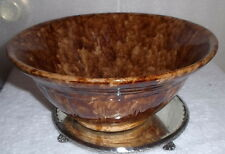 ANTIQUE BENNINGTON - Spongeware  POTTERY Bowl